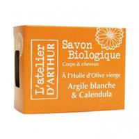 L'Atelier d'Arthur- Savon Huile Olive - Argile Blanche et Calendula Bio