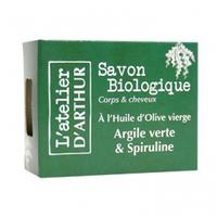 L'Atelier d'Arthur Savon huile Olive- Argile verte et Spiruline Bio