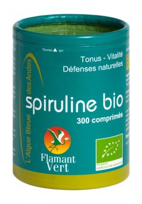 Spiruline Flamant Vert bte 300 comprimés Bio