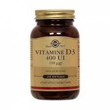 Vitamine D3 400UI Solgar capsules bte 100