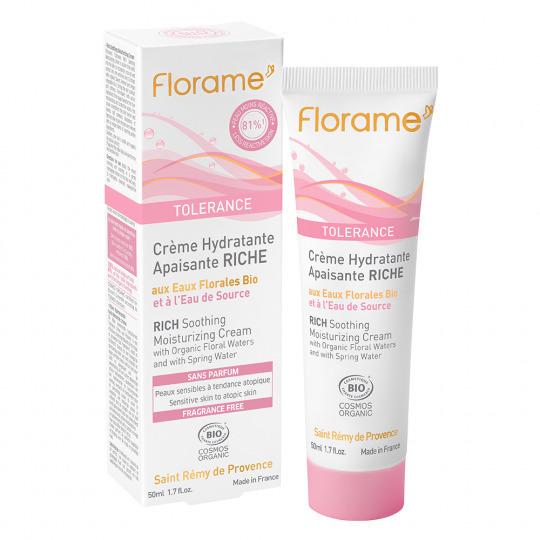 Crème hydratante riche tolérance Bio Florame