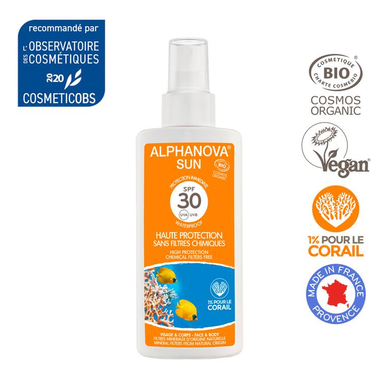 Solaire SPF30 Bio Alphanova spray 125 ml