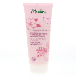 Crème de douche rose et miel d'acacia Bio Melvita 200 ml