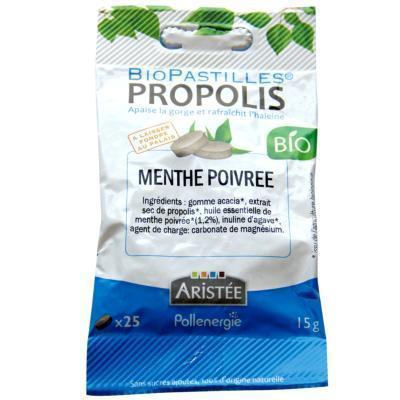 Biopastilles propolis intense menthe Bio Aristée