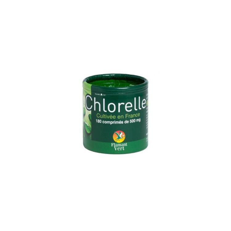 Chlorelle Française 500mg Flamant Vert 180 cps