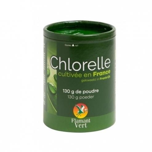 Chlorelle Française 500mg Flamant Vert poudre 130g