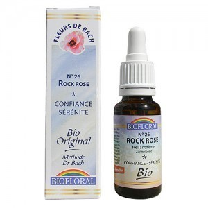 Rock rose N°26 Fleur de Bach Bio Biofloral gouttes