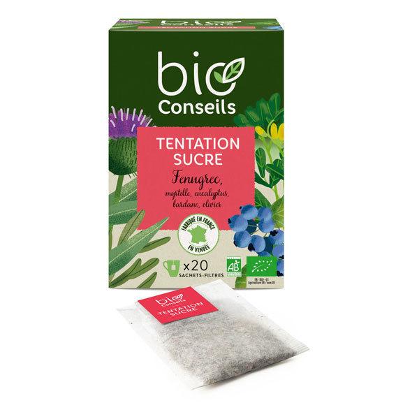 Infusion tentation sucre bio conseils Bio 20 sachets