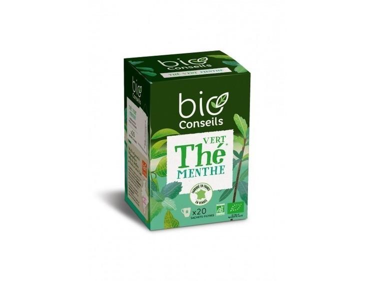 Infusion thé vert menthe bio conseils Bio 20 sachets