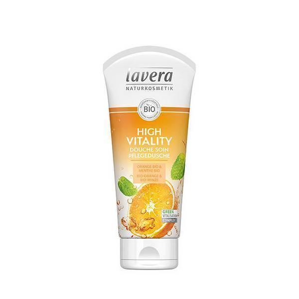 Gel douche orange et menthe Bio Lavera 200 ml
