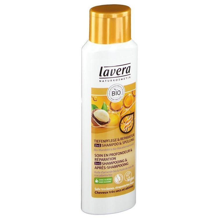 Shampoing 2 en 1 cheveux secs Bio Lavera 250 ml