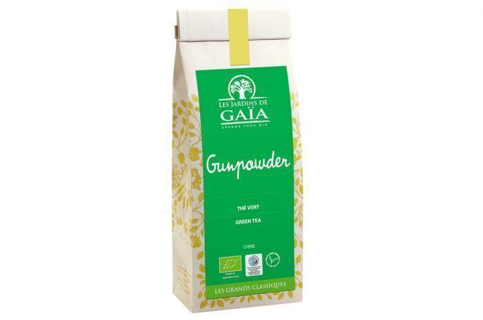 "Thé vert gundpowder Bio ""Les jardins de Gaïa"" 100g"