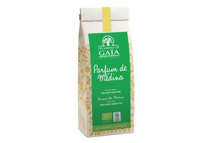 """Thé vert parfum de médina Bio 100g """"Les jardins de gaia"""""""
