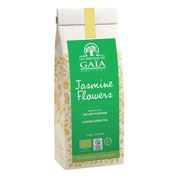 """Thé vert jasmine flowers Bio """"les jardins de Gaïa"""" 100g"""