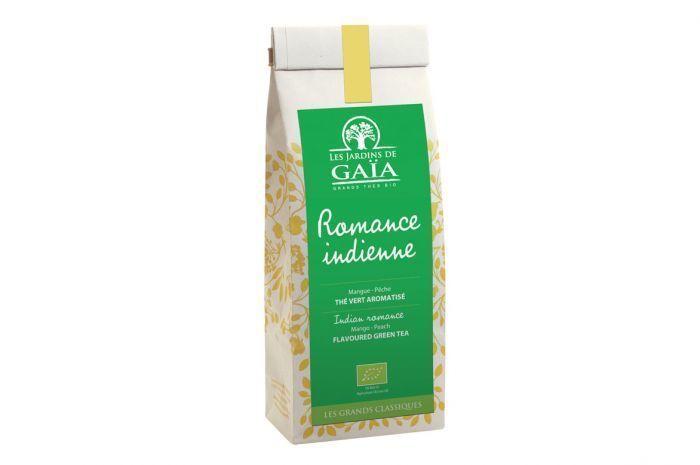 "Thé vert romance indienne Bio ""Les jardins de Gaïa"" 100g"