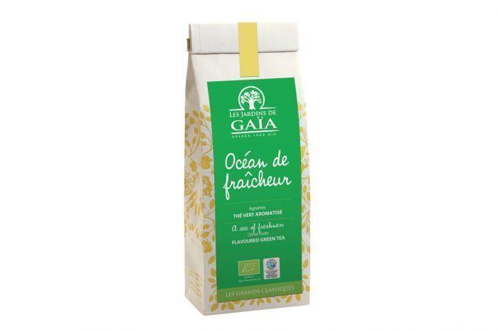 "Thé vert océan de fraîcheur Bio ""Les jardins de Gaïa"" 100g"