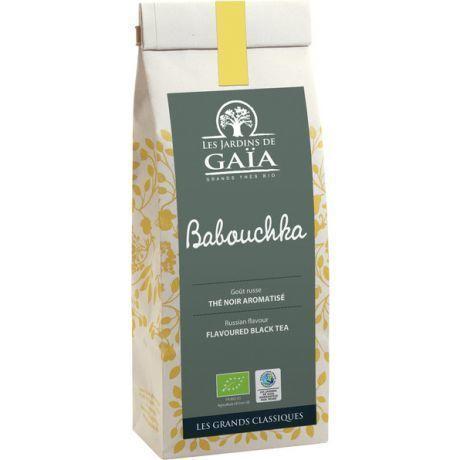 """Thé noir Babouchka Bio """"les jardins de Gaia"""" 100g"""