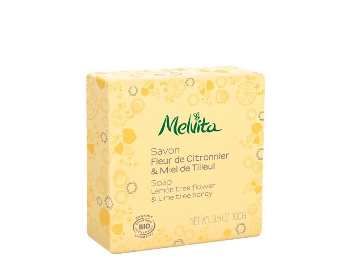 Savon fleur de citronnier et miel de tilleul Bio Melvita 100g