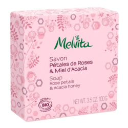 Savon pétales de rose et miel acacia Bio Melvita 100g