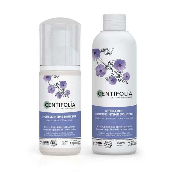Duo mousse intime et sa recharge Centifolia Bio
