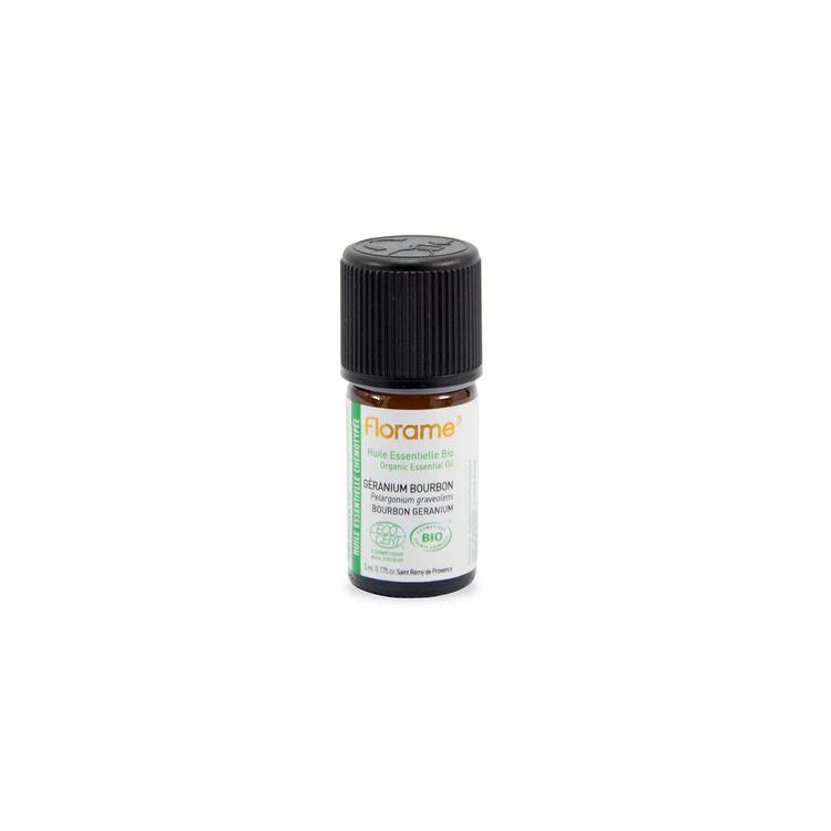 huile essentielle de géranium bourbon Bio Florame 5ml