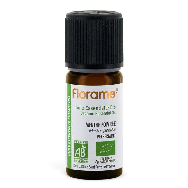Huile essentielle de menthe poivrée Bio Florame 10ml