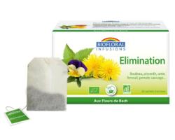 Infusion élimination amincissement Biofloral Bio 20 sachets