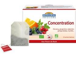Infusion concentration mémoire Biofloral Bio 20 sachets