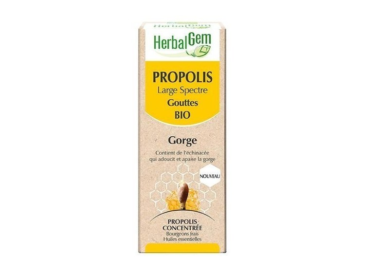 Propolis large spectre Herbalgem Bio gouttes
