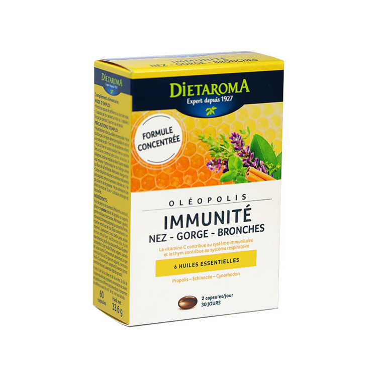 Oléopolis immunité Dietaroma 60 capsules