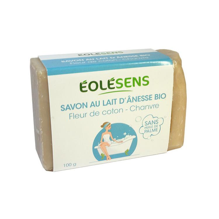 Savon au lait d'Ânesse et huile de chanvre Eolesens Bio 100g