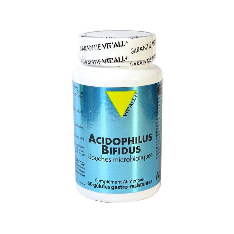 Acidophilus Bifidus Vit'all+ 60 gélules