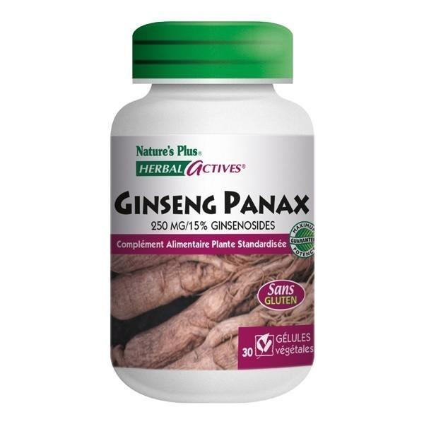 Panax ginseng 250mg Nature's Plus 30 gélules