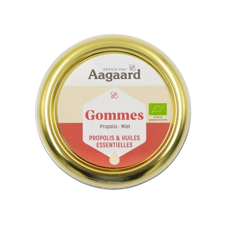 Gommes miel propolis Aagaard Bio 45g