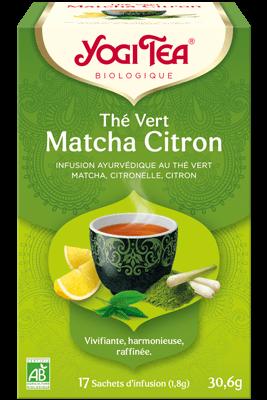 Yogi Tea Thé vert matcha citron Bio 17 infusions