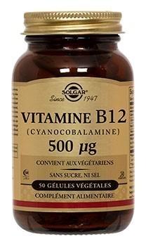 Vitamine B12 500µg Solgar 50 gélules
