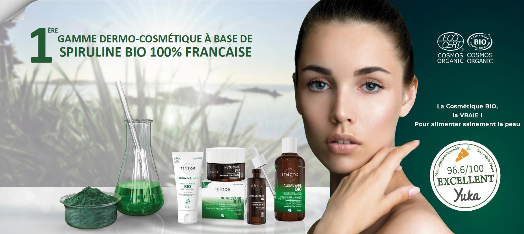Découvrez Tenzor : cosmétiques à base de spiruline Française Bio